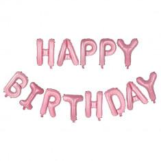 Set 13 baloane folie 3d Happy Birthday Rose 16 inch