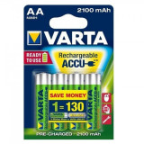 Set 4 Acumulatori Varta AA 2100mAh 1.2V Ni-Mh Ready to Use