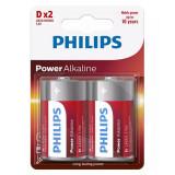 BATERIE POWER ALKALINE LR20 D BLISTER 2 BUC P, Philips