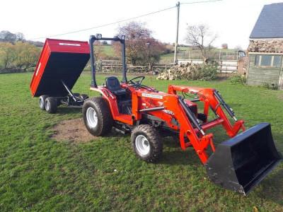 Tractor Massey Ferguson 1234MF5 + Incărcător frontal complet + Remorca foto