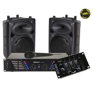 Kit sonorizare ( 2 x boxe abs 10 inch + amplificator 2x240w + mixer)