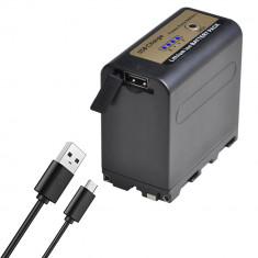 Acumulator NP-F970 7800mAh cu USB pt camere video SONY / lampa video / monitor