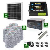 Pachet Gard electric 6,6j putere cu Panou Solar si 7000m de fir 120Kg