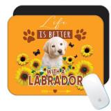Viața de floarea-soarelui Labrador este mai buna : Cadou Mouse pad : Caine Cațeluș Animal Fluture Animal Draguț, Generic