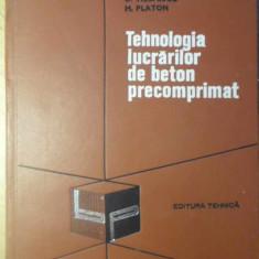 TEHNOLOGIA LUCRARILOR DE BETON PRECOMPRIMAT - D. VIESPESCU, M. PLATON