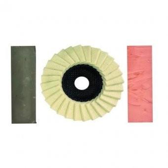 Disc pasla lamelar125 mm flex + pasta Verde + pasta Roz foto