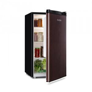 Klarstein Feldberg, frigider, A+, 90L, MirageCool Concept, aspect din lemn, negru