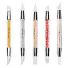 Instrumente Silicon Duble pentru Pictura, Sculptura, Unghii False - Luxury Edition