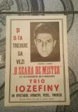 RAR- Afis / Reclama cu iluzionistul Iosefini anii '50