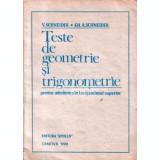 Teste de geometrie si trigonometrie pentru admiterea in invatamantul superior