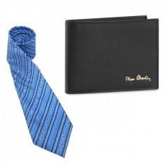 Gentleman Cadou Portofel Pierre Cardin piele naturala Cravata Matase Naturala