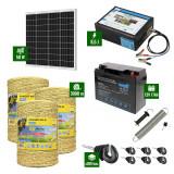Pachet Gard electric 8,5J putere cu Panou Solar si 3000m de fir 160Kg