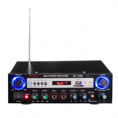 Amplificator Bluetooth BT-7388, USB, suport card SD, telecomanda
