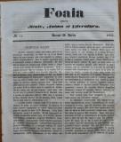 Ziarul Foaia pentru minte , inima si literatura , nr. 11 , 1862 , Samuel Klein