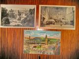 A995-3 Carti postale vechi Gari Germania- Franta anii 1920-30.