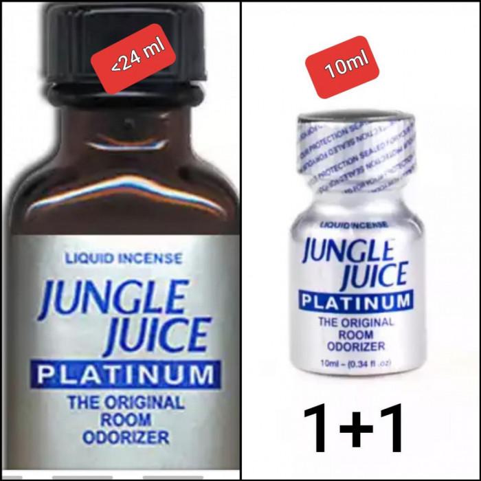2X JUNGLE JUICE PLATINUM 24 M+10 ML ,POPPERS,AROMA CAMERA,RUSH,CALITATE,ORIGINAL
