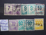 1944-1947-Franta-Timbre pt. colete postale-valorile mari-Y.T.=+150$-stampilate