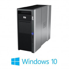 Workstation Refurbished HP Z800, 2 x Hexa Core X5660, NVidia Quadro 4000, Win 10 Home