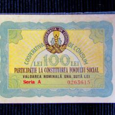 Participatie la Constituirea Fondului Social,Cooperativa de Consum 1960.
