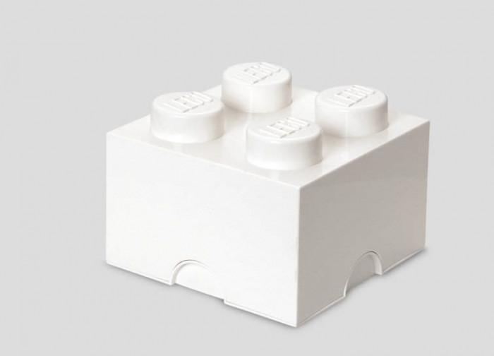 Cutie depozitare LEGO 2x2 - Alb