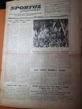 sportul popular 18 august 1953-intrecerea mondiala de atletism,volei,sah
