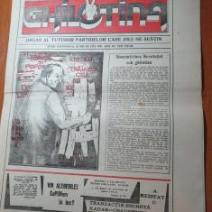 ziarul ghilotina anul 1,nr.1 din 4 mai 1990-prima aparitie