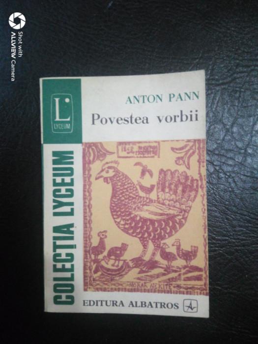 Povestea vorbii-proverbe-Anton Pann