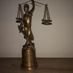 """Statuie veche englezeasca""""Justitia""""dim bronz masiv"""