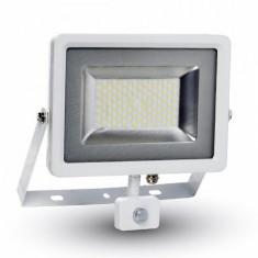 Reflector led smd 50w 6000k ip44 cu senzor miscare