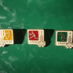 3 INSIGNE CU OLIMPIADA MOSCOVA 1980