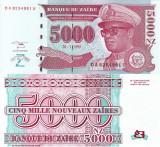 ZAIR 5.000 nouveaux zaires 1995 UNC!!!