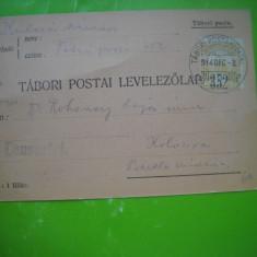 HOPCT 179 X  CARTE POSTALA PRIZONIERI DE RAZBOI-CLUJ 1914