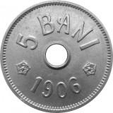 ROMANIA, 5 BANI 1906 J_UNC * cod 114.4.19