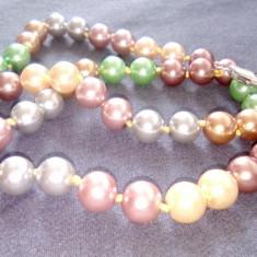 Colier perle sea shell multicolore