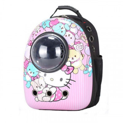Rucsac transport animale de companie, tip capsula astronaut, Hello Kitty, Gonga foto