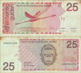 1986 ( 31 III ) , 25 gulden ( P-24a ) - Antilele Olandeze