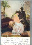 AX 498 CP VECHE-INDRAGOSTITI IN TINUTA DE EPOCA-1904-DRENOVA-TREVNA-BULGARIA, Circulata, Printata