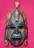 Masca Africa sculptata in lemn de abanos Jambo Kenya