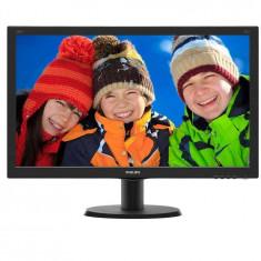 Monitor LCD Philips 23.8, Full HD, DVI-D, VGA, HDMI, Negru, 240V5QDSB