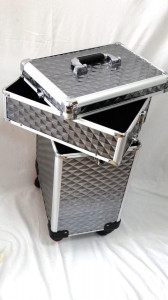 Troler Make -Up/ Frizerie model argintiu