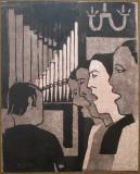 Gravura, Personaje - semnat  Helmer Teleman, Portrete, Fresca, Altul