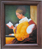 Tablou / Pictura fata in galben semnat Cimpoesu