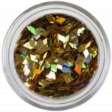 Confetti diamant - auriu, hologramă