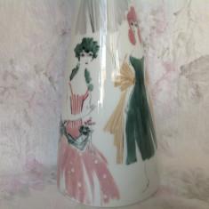 Vaza portelan fin Rosenthal, pictura manuala