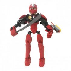 Figurina de jucarie, model ninja, rosu/negru, 14x5x21 cm