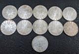 Lot 11 monede argint 50 schilling Austria 220 grame - pret sub cotatie, Europa