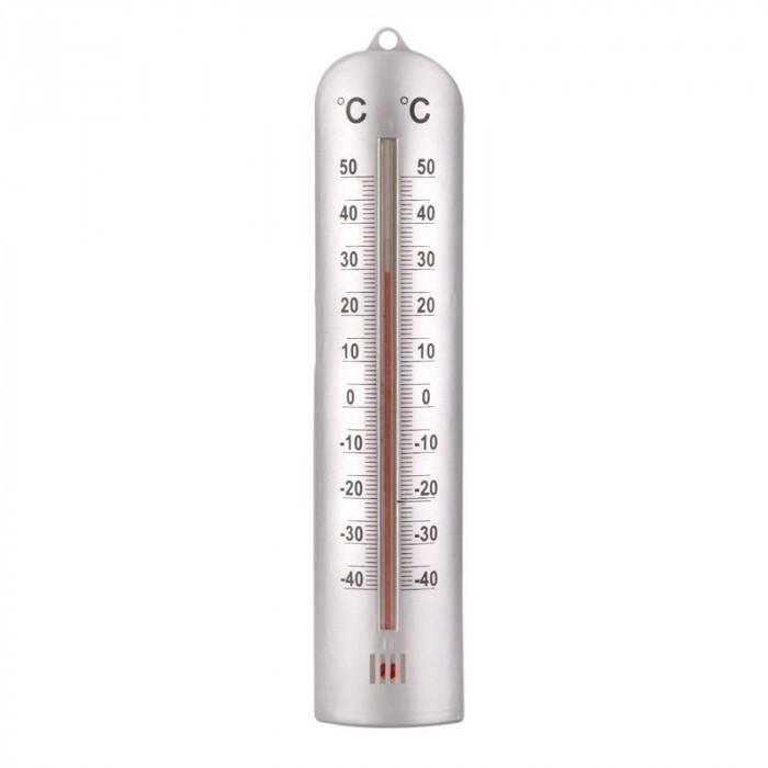 Termometru interior/exterior Meteo, 26.5 cm, Alb