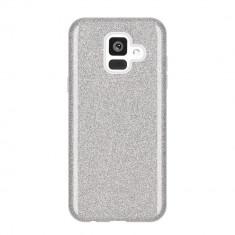Husa Samsung Galaxy A6 2018 - Cu Sclipici Argintie