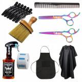 Set kit ustensile accesorii foarfeca frizerie coafor pulverizator manta SF02