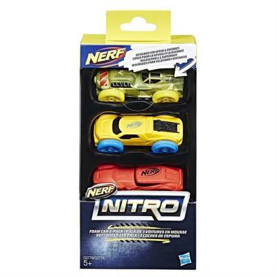 Jucarie Hasbro Nerf Nitro Foam Car 3 Pack foto